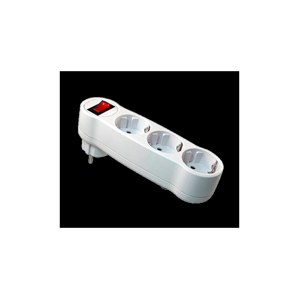 Enchufe triple con interruptor - Enchufe y interruptor ...