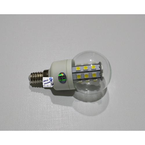 Bombilla E14 LED SMD 5050 Esférica 6W 230V
