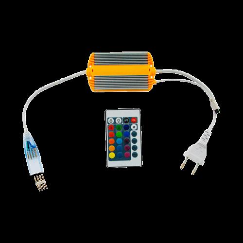 Enchufe tira LED RGB 230V 10W con Mando a Distancia