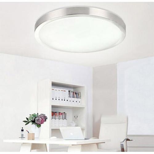 Plafón LED detector movimiento 24W Aluminio