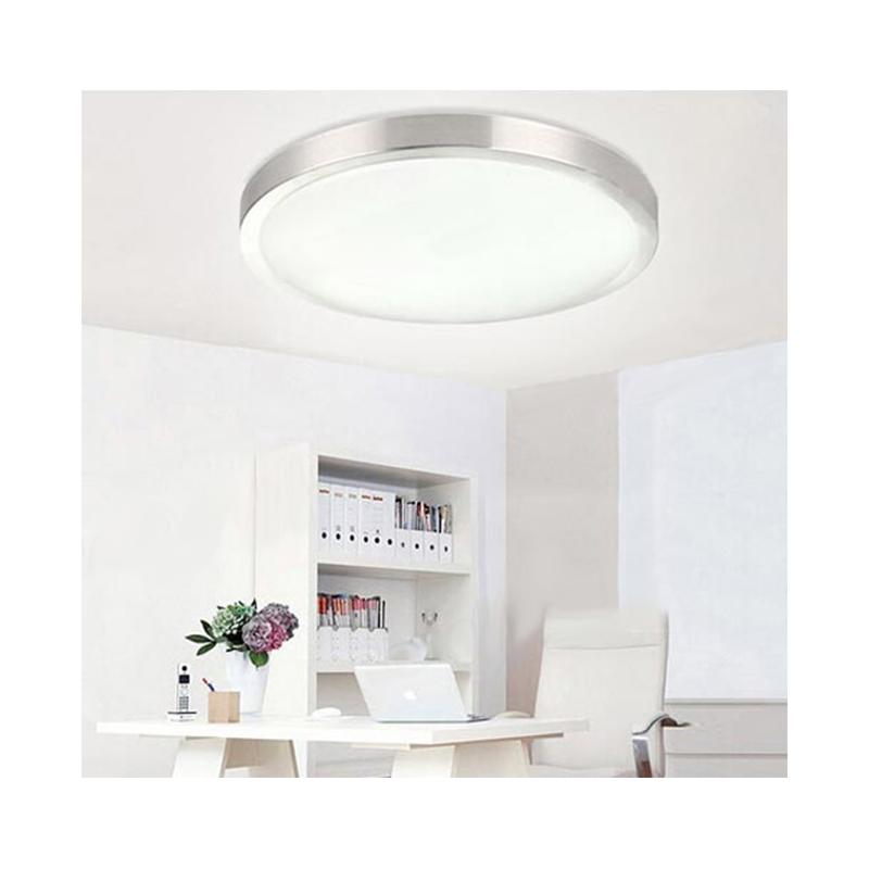 Plafón LED DETECTOR PRESENCIA 23W Contorno Aluminio 230V