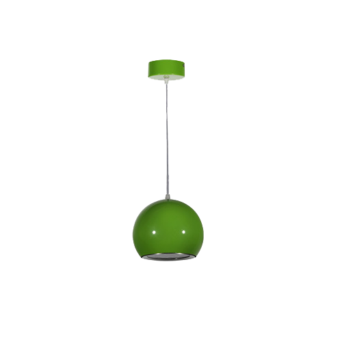 Lámpara colgante LED Esfera-Bola 12W Verde