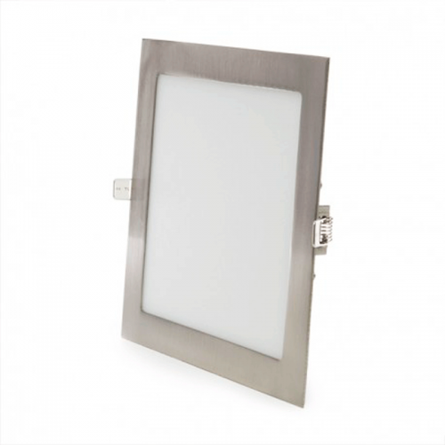 Downlight LED Panel 18W Niquel Cuadrado