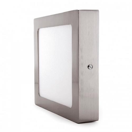 Plafón LED superficie Cuadrado 24W Niquel