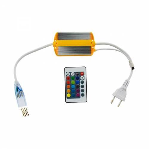 Enchufe Controlador Tira LED Neon Flex 10 W/m RGB
