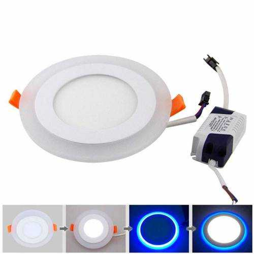Downlight LED 7W+3W Contorno Azul Redondo