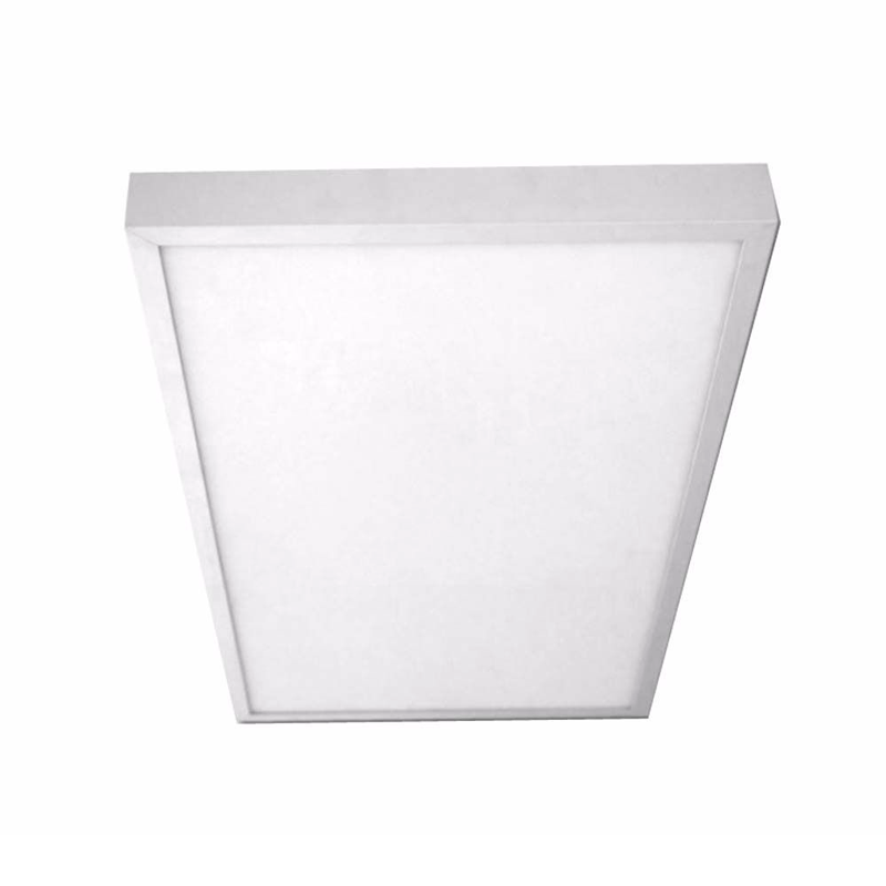 Plafon superficie led rectangular 24w blanco for Plafon led cocina rectangular