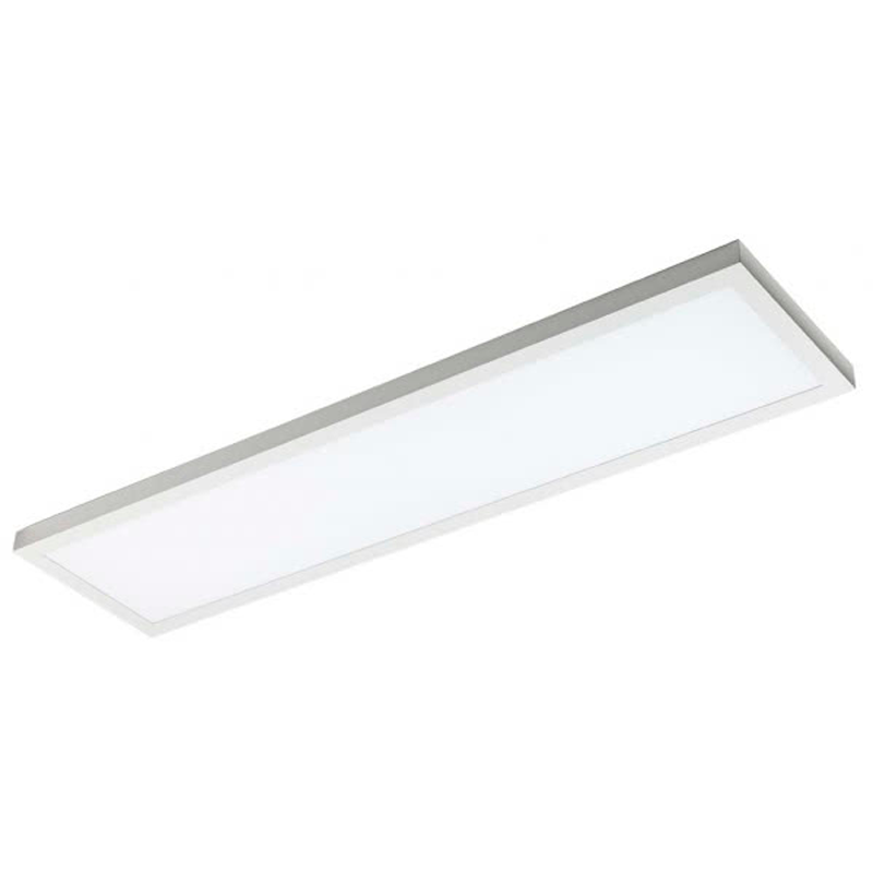Plafon superficie led rectangular 48w blanco for Plafon led cocina rectangular