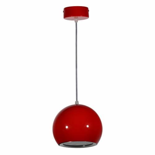 Lámpara colgante LED Esfera-Bola 12W Roja