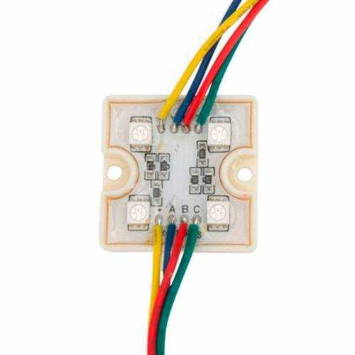 Módulo 4 LED SMD 5050 1,44W RGB 12V IP65