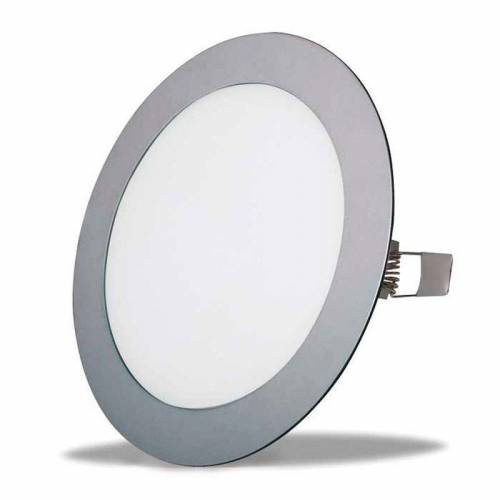 Downlight LED Panel 18W Plata Gris