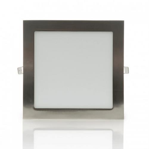 Downlight LED Panel 18W 12-24V Niquel Cuadrado