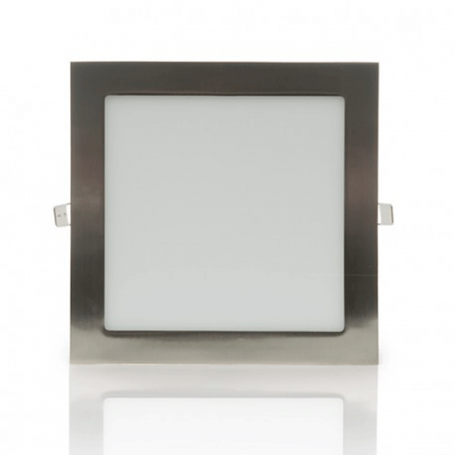 Downlight LED Panel 18W 12-24V Niquel Cuadrado