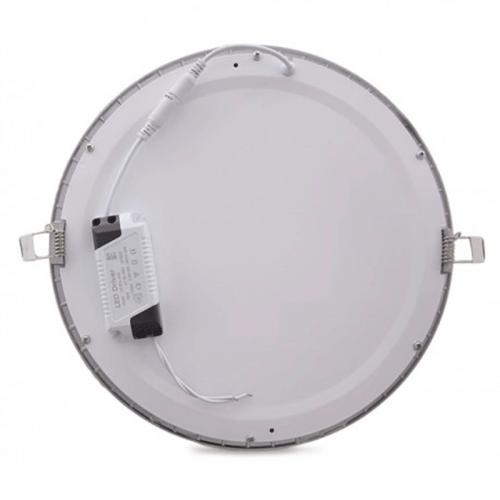 Downlight LED Panel 24W Niquel 12-24V