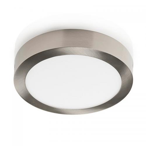 Plafón LED superficie Redondo 24W Niquel 12-24V