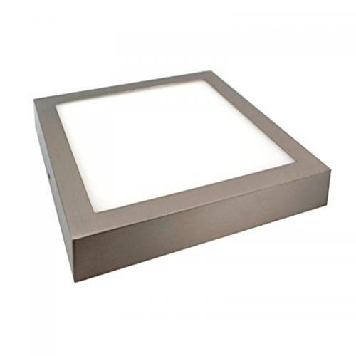 Plafón LED superficie Cuadrado 24W Niquel 12-24V