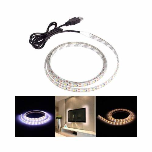 Tira LED SMD 5050 14,4 W/m 5Vdc IP20 1 metro USB