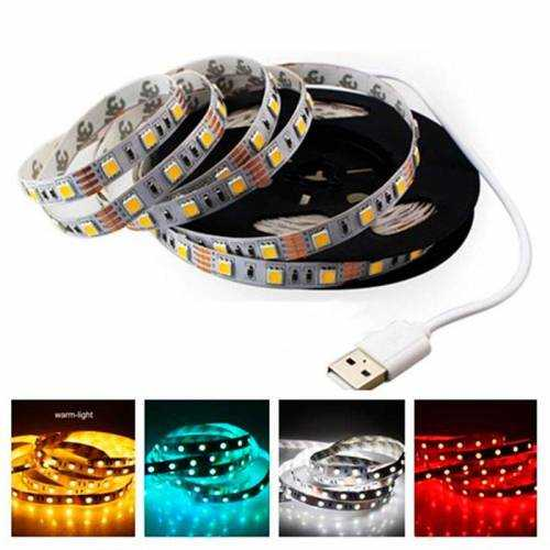 Tira LED SMD 5050 14,4 W/m 5Vdc IP20 1 metro USB