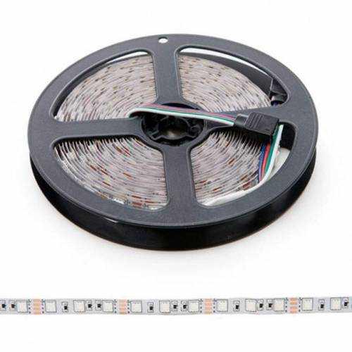 Pack Tira LED RGB 14,4W/m 12V IP20 5m Alimentador, Mando y Controlador