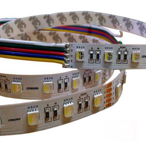 Tira LED RGBW 19,2 W/m 12V IP20 5 metros
