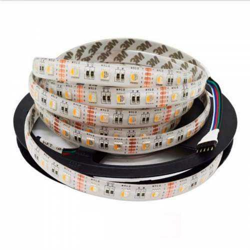 Tira LED RGBW 19,2 W/m 12V IP44 5 metros Blanco frio