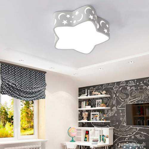 Plafón LED 18W Infantil Estrella Blanca
