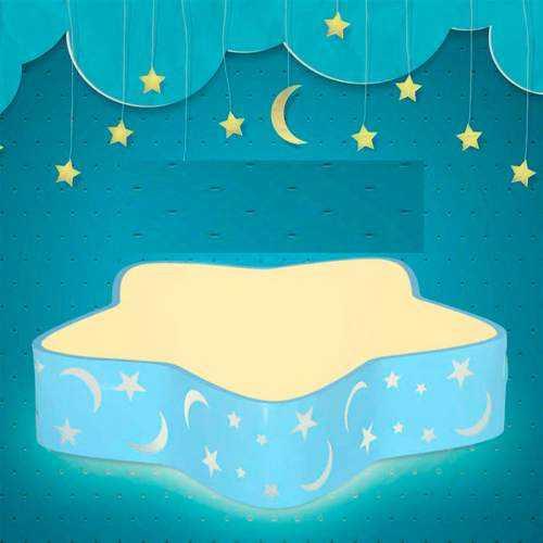 Plafón LED 18W Infantil Estrella Azul