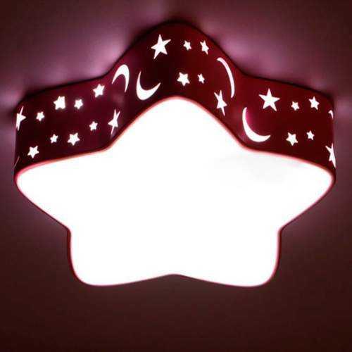 Plafón LED 24W Infantil Estrella Rosa