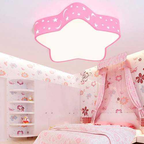 Plafón LED 18W Infantil Estrella Rosa