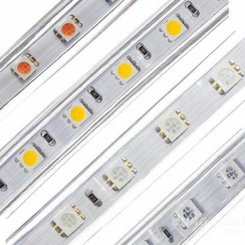 Tira LED SMD 5050 15 W/m 230V IP67 1 metro