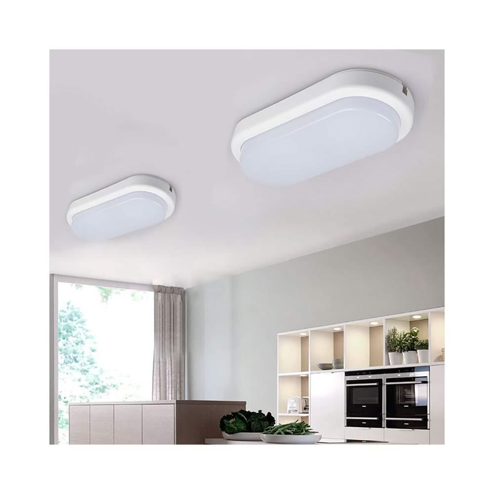 Plafon ovalado superficie led 18w ip54 for Plafones exterior iluminacion
