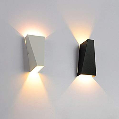 Aplique Pared LED 12W Blanco-Negro