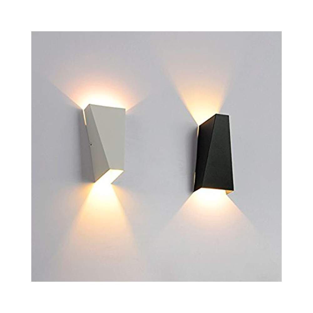 Aplique pared led 10w blanco negro for Apliques de pared exterior led