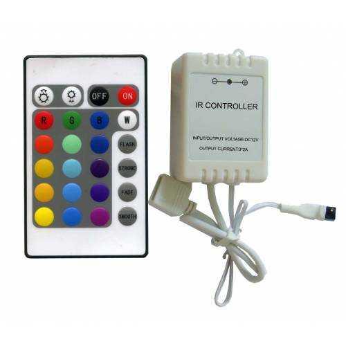 Controlador RGB infrarrojos 24 teclas 72W