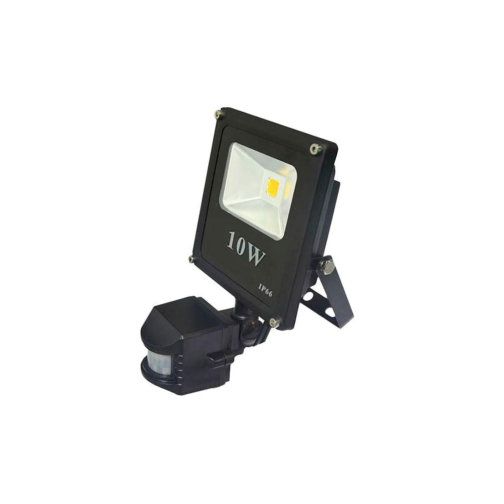 Foco proyector led cob 10w con sensor de movimiento for Detector movimiento exterior