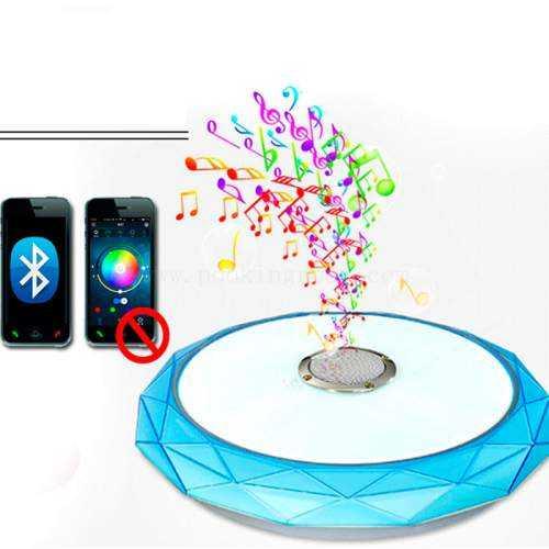 Plafón LED Músical con Altavoz 24W Azul