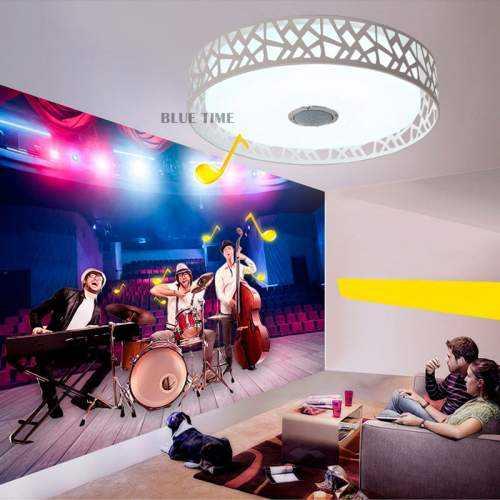 Plafón LED Músical con Altavoz 24W Blanco