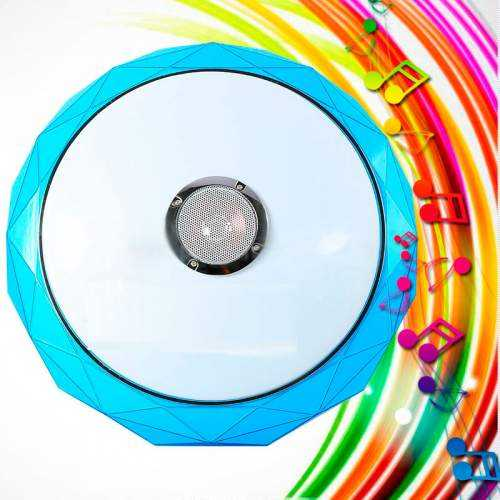 Plafón LED Músical con Altavoz 24W Azul +App