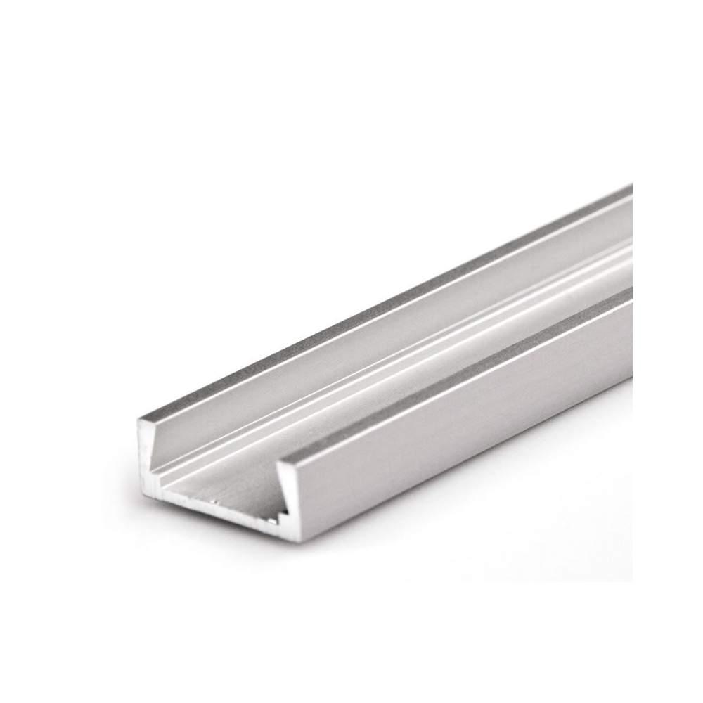 Perfil aluminio superficie 2 metros para tira led - Tiras de aluminio ...