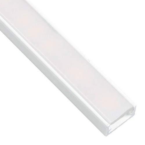 Perfil Blanco Aluminio superficie 1 Metro Tira LED