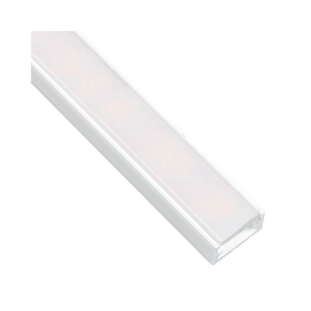 Perfil blanco aluminio superficie 1 metro para tira led - Perfil aluminio blanco ...