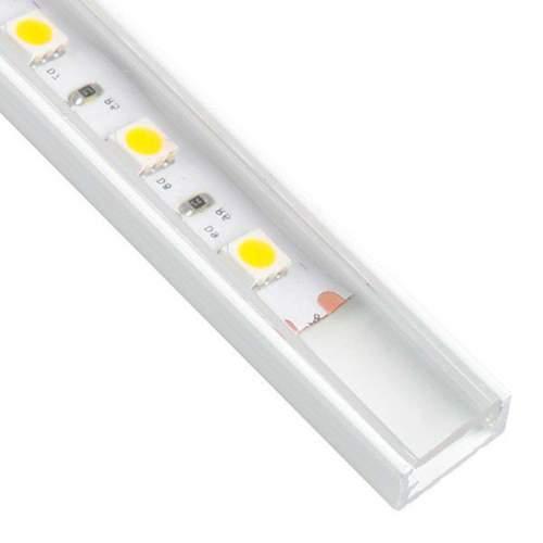 Perfil Blanco Aluminio superficie 2 metros Tira LED
