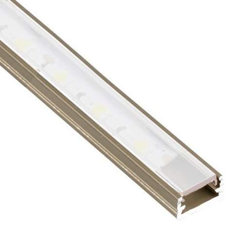 Perfil Cava-Niquel Aluminio superficie 2 metros Tira LED