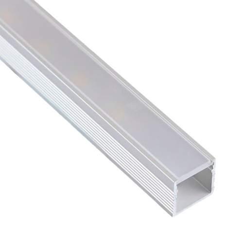 Perfil Aluminio Hondo Superficie 2 metros Tira LED
