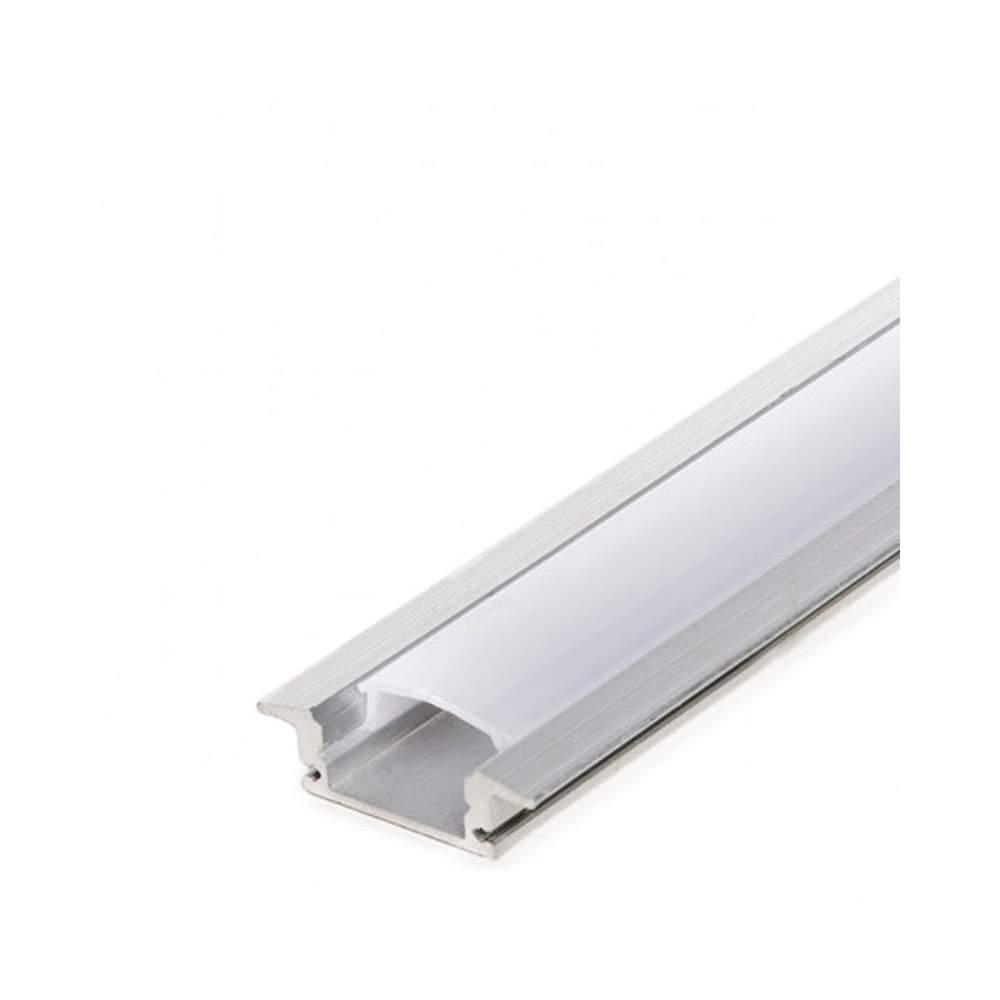 Perfil para empotrar tira led de 1 metro - Tiras de aluminio ...