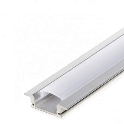 Perfil Aluminio empotrar 2 metros Tira LED