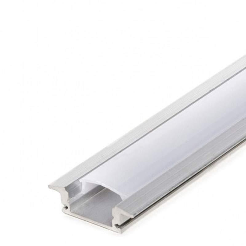 Perfil aluminio empotrar 2 metros tira led - Tiras de aluminio ...