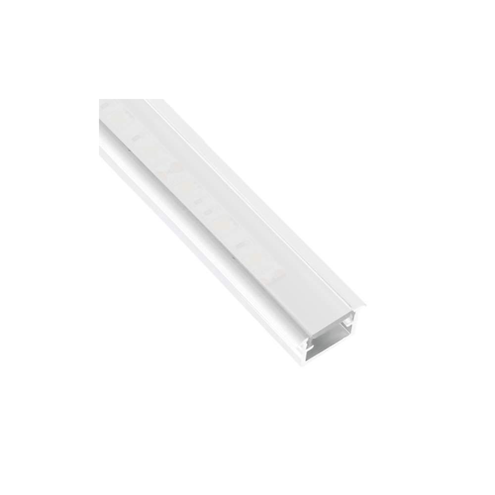 Perfil blanco aluminio empotrar 2 metros tira led - Perfil aluminio blanco ...