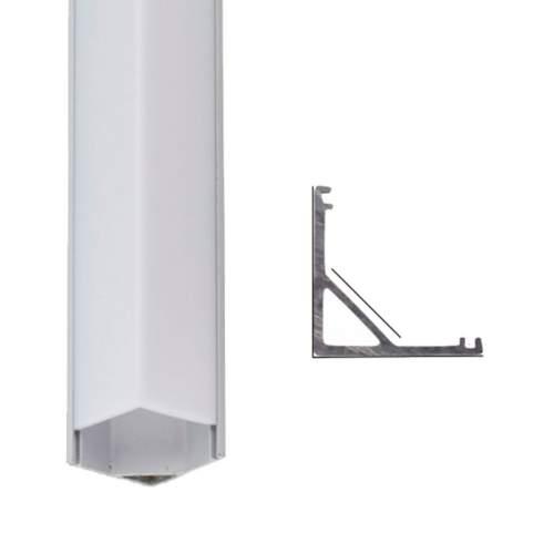Perfil de Aluminio Tira LED Esquinas 1 Metro