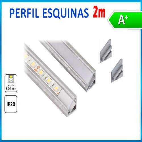 Perfil de Aluminio Tira LED Esquinas 2 Metros